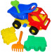 Детская игрушка автомобиль Кузя-2 + формочки (самосвал, паровоз), совок , грабельки №41 арт. 2785. Полесье в Минске