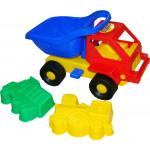 Детская машинка Кузя-2 + формочки (самосвал, паровоз) №42 арт. 2792. Полесье