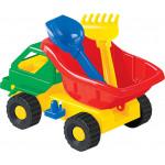Детская игрушка автомобиль Кузя-2 лопатка и грабельки  арт. 2808. Полесье