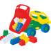 Детская игрушка  машинка Кузя-2 + конструктор СТРОИТЕЛЬ (12 элементов) №44 арт. 2815. Полесье в Минске