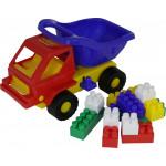 Детская игрушка  машинка Кузя-2 + конструктор СТРОИТЕЛЬ (12 элементов) №44 арт. 2815. Полесье