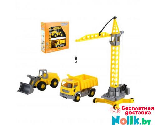 Детская игрушка автомобиль + набор строительной техники Агат (в коробке) арт. 57150. Полесье в Минске