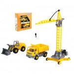Детская игрушка автомобиль + набор строительной техники Агат (в коробке) арт. 57150. Полесье