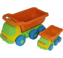 Детская игрушка  Кеша, автомобиль-самосвал + Яша, автомобиль-самосвал №266 арт. 4281. Полесье
