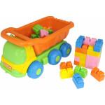 """Детская игрушка автомобиль-самосвал + конструктор """"Малютка"""" (35 элем.) №272 арт. 4342. Полесье"""