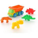 Детская игрушка машина-самосвал  + формочки арт. 57846. Полесье