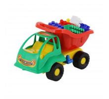 Детская игрушка автомобиль Муравей + конструктор СТРОИТЕЛЬ (12 элементов) арт. 3140. Полесье