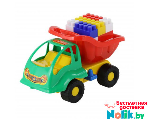 Детская игрушка  машинка Муравей + конструктор СТРОИТЕЛЬ (18 элементов) №53 арт. 3157. Полесье в Минске
