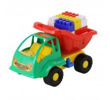Детская игрушка  машинка Муравей + конструктор СТРОИТЕЛЬ (18 элементов) №53 арт. 3157. Полесье