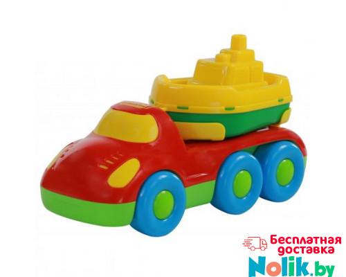 Детская игрушка автомобиль для перевозки кораблика + кораблик Буксир Дружок арт. 48370. Полесье в Минске