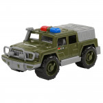Детская игрушка автомобиль-джип военный патрульный Защитник №1 арт. 63724. Полесье
