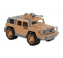 Детская игрушка автомобиль-джип военный Защитник-Сафари с 1-м пулемётом арт. 63502. Полесье