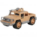 Детская игрушка автомобиль-пикап военный Защитник-Сафари с 1-м пулемётом арт. 63458. Полесье