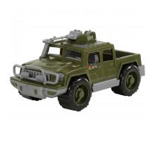 Детская машинка-пикап военный Защитник с 1-м пулемётом арт. 64004. Полесье