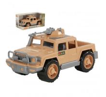Детская машинка-пикап военный Защитник-Сафари с 1-м пулемётом (в коробке) арт. 69054. Полесье