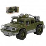 Детская игрушка автомобиль-пикап военный Защитник с 2-мя пулемётами (в коробке) арт. 69566. Полесье