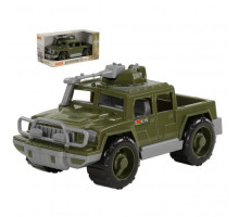 Детская игрушка автомобиль-пикап военный Защитник с 1-м пулемётом (в коробке) арт. 69610. Полесье