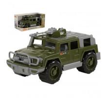 Детская игрушка автомобиль-джип военный Защитник с 1-м пулемётом (в коробке) арт. 69665. Полесье