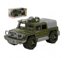 Детская игрушка автомобиль-джип военный Защитник с 1-м пулемётом (в коробке) арт. 69719. Полесье