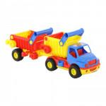 Детская игрушка автомобиль-самосвал с полуприцепом (в коробке) КонсТрак арт. 37718. Полесье