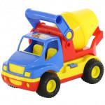Детская игрушка автомобиль-бетоновоз (в сеточке) КонсТрак арт. 9692. Полесье