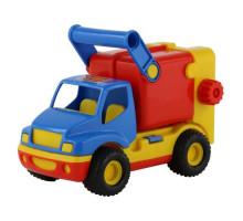 Детская игрушка автомобиль коммунальный, мусоровоз (в сеточке) КонсТрак арт. 8916. Полесье