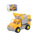 Детская игрушка автомобиль коммунальный, мусоровоз (оранжевый) (в коробке) КонсТрак арт. 44846. Полесье