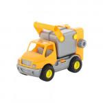 Детская игрушка автомобиль коммунальный, мусоровоз (оранжевый) (в сеточке) КонсТрак арт. 0414. Полесье