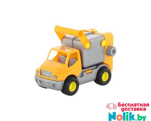 Детская игрушка автомобиль коммунальный, мусоровоз (оранжевый) (в сеточке) КонсТрак арт. 0414. Полесье в Минске