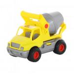 Детская игрушка автомобиль-бетоновоз (жёлтый) (в сеточке) КонсТрак арт. 0797. Полесье