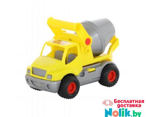 Детская игрушка автомобиль-бетоновоз (жёлтый) (в сеточке) КонсТрак арт. 0797. Полесье в Минске