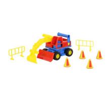 Детская игрушка  экскаватор колёсный (в сеточке) КонсТрак арт. 9708. Полесье