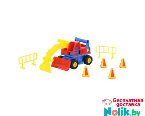 Детская игрушка  экскаватор колёсный (в сеточке) КонсТрак арт. 9708. Полесье в Минске