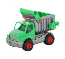Детская игрушка автомобиль-самосвал (зелёный) (в сеточке) КонсТрак арт. 0575. Полесье