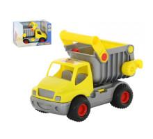 Детская игрушка автомобиль-самосвал, мусоровоз (жёлтый) (в коробке) КонсТрак арт. 44839. Полесье