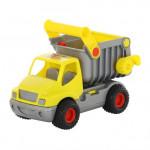 Детская игрушка автомобиль-самосвал (жёлтый) (в сеточке) КонсТрак арт. 0407. Полесье