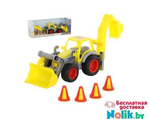 Детская игрушка  трактор-погрузчик с ковшом (в коробке) КонсТрак арт. 37749. Полесье в Минске