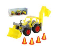 Детская игрушка  трактор-погрузчик с ковшом (в коробке) КонсТрак арт. 37749. Полесье