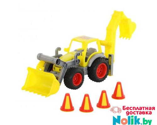 Детская игрушка  трактор-погрузчик с ковшом (в сеточке) КонсТрак арт. 0377. Полесье в Минске