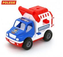 Машинка Полесье (в сеточке) КонсТрак - жандармерия арт. 46543
