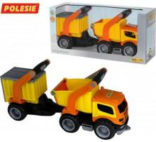 Детская игрушка автомобиль-самосвал с полуприцепом (в коробке) ГрипТрак арт. 37466. Полесье