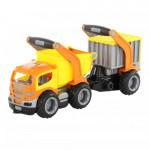 Детская игрушка автомобиль-самосвал с полуприцепом (в сеточке) ГрипТрак арт. 9432. Полесье