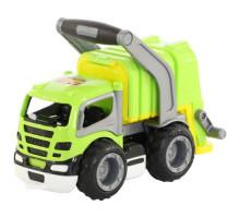Детская игрушка автомобиль коммунальный, мусоровоз (в сеточке) ГрипТрак арт. 6257. Полесье