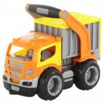 Детская игрушка автомобиль-контейнеровоз (в сеточке) ГрипТрак арт. 0803. Полесье