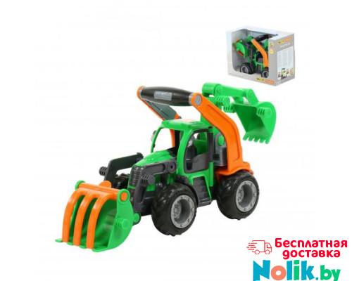 Детская игрушка  трактор-погрузчик с ковшом (в коробке) ГрипТрак арт. 37374. Полесье в Минске