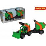Детская игрушка  трактор снегоуборочный с полуприцепом (в коробке) ГрипТрак арт. 37381. Полесье