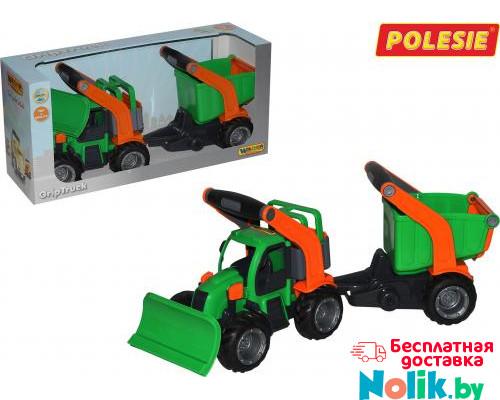 Детская игрушка  трактор снегоуборочный с полуприцепом (в коробке) ГрипТрак арт. 37381. Полесье в Минске
