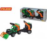 Детская игрушка  трактор-погрузчик с цистерной (в коробке) ГрипТрак арт. 37404. Полесье