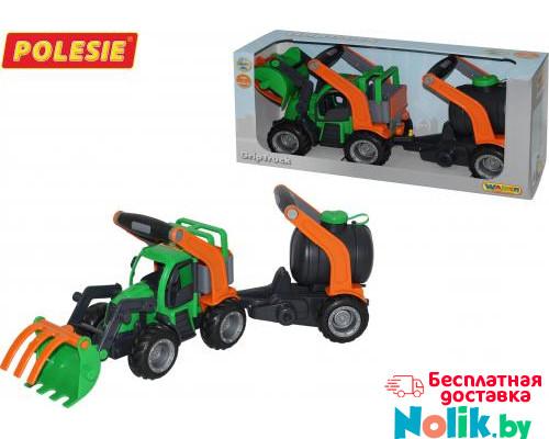 Детская игрушка  трактор-погрузчик с цистерной (в коробке) ГрипТрак арт. 37404. Полесье в Минске