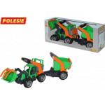 Детская игрушка  трактор-погрузчик с полуприцепом (в коробке) ГрипТрак арт. 37411. Полесье